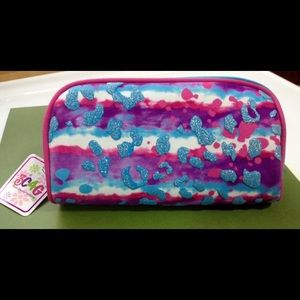 3C4G Tie Dye Leopard Print Makeup/Pencil Case